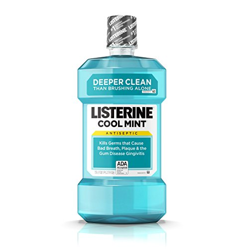 Listerine - Listerine Cool Mint Antiseptic Mouthwash for Bad Breath, Plaque and Gingivitis, 1.5 l