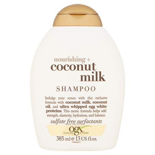 OGX - OGX Shampoo Nourishing Coconut Milk, (1) 13 Ounce Bottle, Paraben Free, Sulfate Free, Sustainable Ingredients, Strengthens, Hydrates, Balances and Restores Elasticity