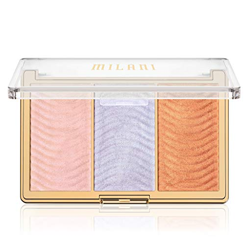 Milani - Milani Stellar Lights Highlighter Palette - Holographic Beams (.42 Ounce) 3 Vegan, Cruelty-Free Face Powders that Contour & Highlight for a Glowing Look