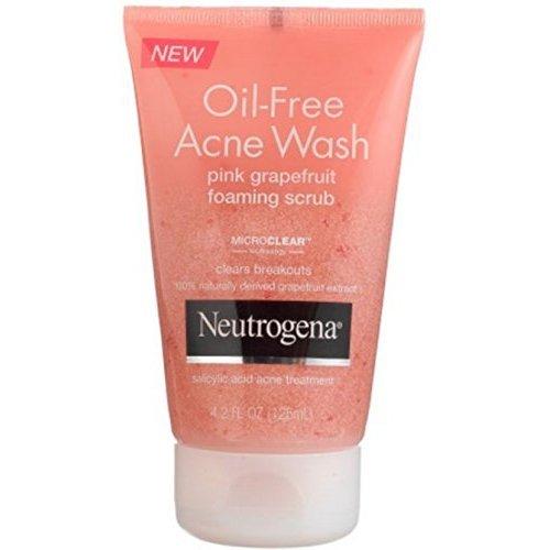 PerfumeWorldWide, Inc. Drop Ship Company - Neutrogena Oil-Free Acne Wash Pink Grapefruit Foaming Scrub, 4.2 Ounce (Value Pack of 2)