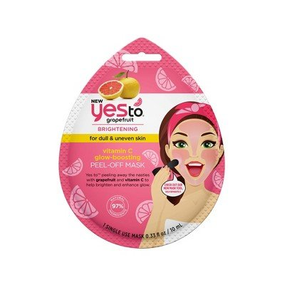Yes To - Yes To Grapefruit Peel Off Face Mask for Dull and Uneven Skin Vitamin C Glow Boosting Facial Mask | Single Use / 0.33 fl oz