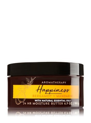 Bath & Body Works - Aromatherapy Moisture Butter, Happiness Bergamot Mandarin