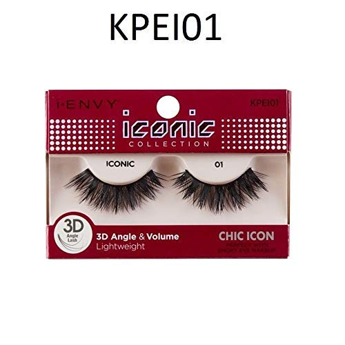 kiss i envy - i Envy by Kiss iconic 3D Angle & Volume Lashes CHIC ICON 01 (3 Pack)