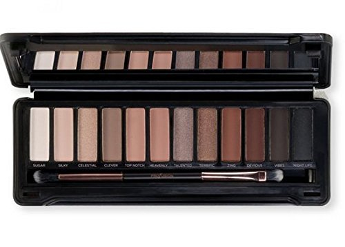 Profusion - Profusion 12 Shade Eyeshadow Pro Makeup Case & Brush ~ Nude Eyes