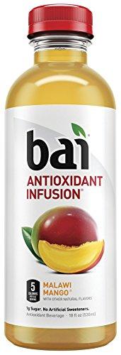bai - Bai5, 5 calorie Malawi Mango, 100% Natural, Antioxidant Infused Beverage, 18Ounce Bottles