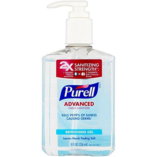 Purell - Purell Advanced Hand Sanitizer Refreshing Gel 8 oz (Pack of 8)