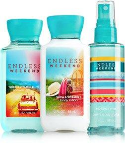Bath & Body Works - Bath & Body Works Endless Weekend Body Lotion ~ Shower Gel & Fragrance Mist to Go Travel Size