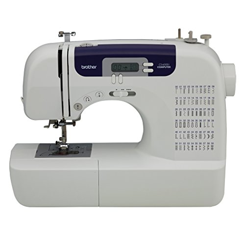 Brother - Brother CS6000i Feature-Rich Sewing Machine With 60 Built-In Stitches, 7 styles of 1-Step Auto-Size Buttonholes, Quilting Table, and Hard Cover