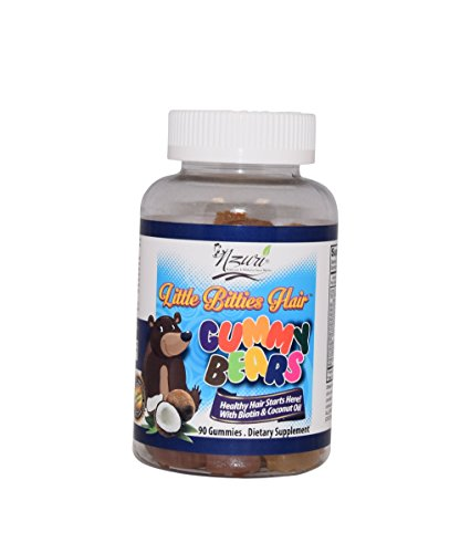 Nzuri Nzuri Little Bitties Children Hair Vitamin Gummy Bears, 90 Gummies