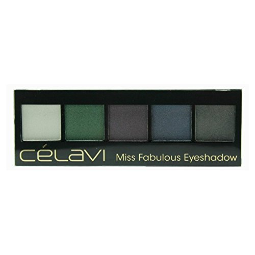 Celavi Cosmetics Celavi Five Color Miss Eyeshadow Palette w/ Skinny Mirror and Dual Sided Sponge Applicator (Fabulous)