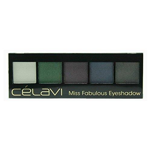 Celavi Cosmetics - Celavi Five Color Miss Eyeshadow Palette w/ Skinny Mirror and Dual Sided Sponge Applicator (Fabulous)