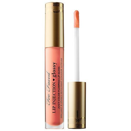 Too Faced - TOO FACED Lip Injection Glossy Plumping Lip Gloss BABE ALERT - Full Size & Authentic