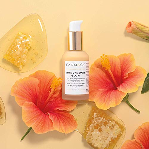 Farmacy Farmacy Honeymoon Glow AHA Hydrating Night Serum w/Hyaluronic Acid for Fine Lines & Wrinkles