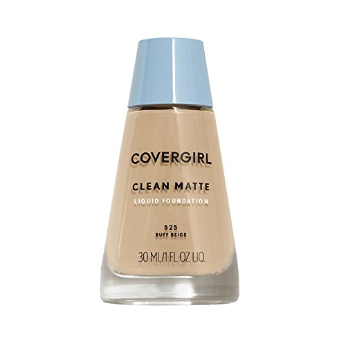 COVERGIRL - COVERGIRL Clean Matte Liquid Foundation Buff Beige 525, 1 oz (packaging may vary)