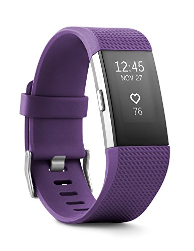 Fitbit - Fitbit Charge 2 Heart Rate + Fitness Wristband, Plum, Small (US Version)