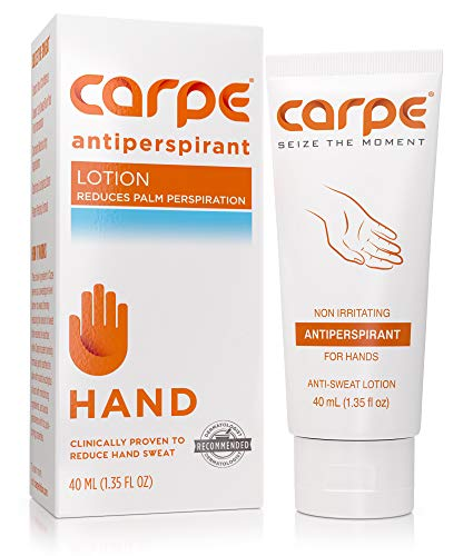 Carpe - Carpe Antiperspirant Hand Lotion, A dermatologist-recommended, non-irritating, smooth lotion that helps stop hand sweat, great for hyperhidrosis or excessive sweat