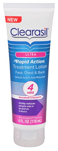 Clearasil - Clearasil Ultra Rapid Action Facial Treatment Moisturizing Lotion, 4 oz(Pack of 3)