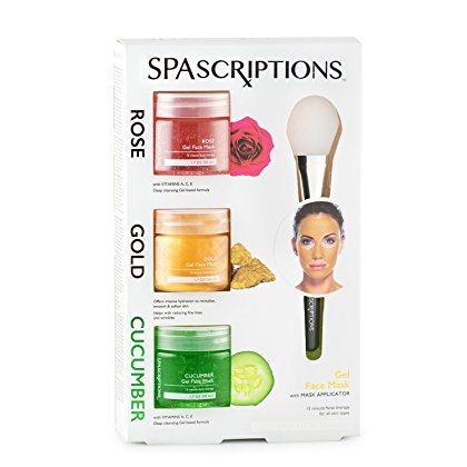 SpaScriptions - Rose, Gold & Cucumber Gel Face Mask