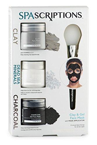 SpaScriptions - SPAScriptions Clay, Dead Sea Minerals & Charcoal Gel Face Mask, 1.7 Oz Each