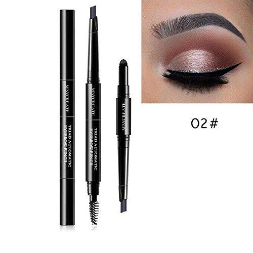 M'AYCREATE - M'AYCREATE 3 in 1 Waterproof Multifunctional Automatic Eyebrow Pigment Makeup Kit Beauty Daily Beginner Portable Lasting (B)