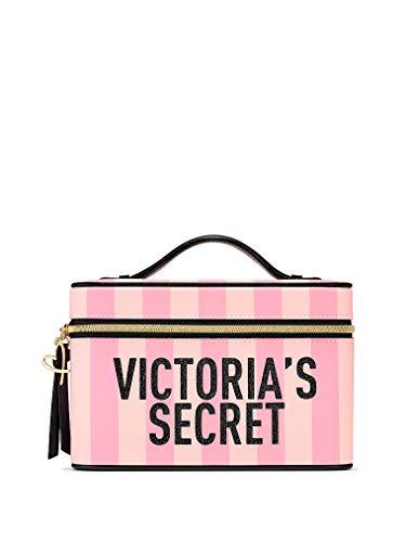 Victoria's Secret - Victoria Secret Striped Train Travel Case Pink W/Mirror