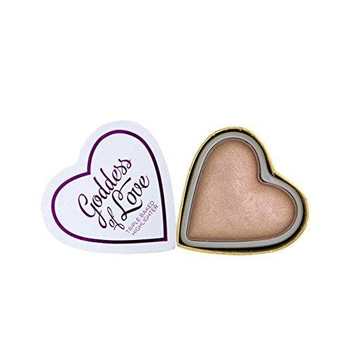 Makeup Revolution - Blushing Hearts Triple Baked Highlighter, Goddess of Love