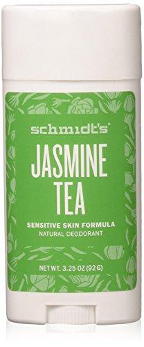 Schmidt's Deodorant - Schmidt's Natural Deodorant for Sensitive Skin - Jasmine Tea, 3.25 ounces. Stick for Women and Men