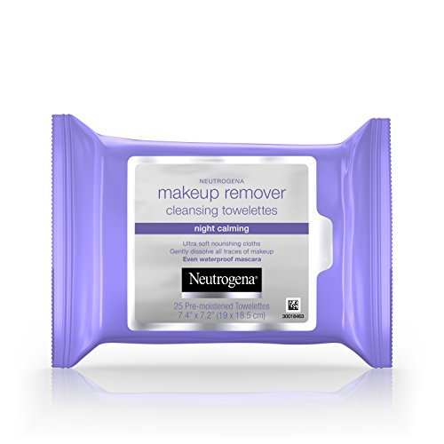 Neutrogena - Neutrogena Makeup Remover Night Calming Cleansing Towelettes, Disposable Nighttime Face Wipes to Remove Dirt, Oil & Makeup, 25 ct