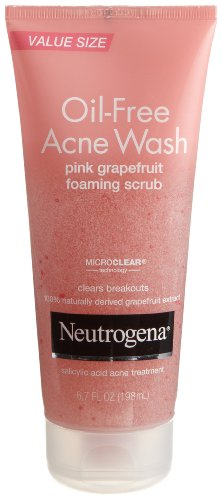 Neutrogena - Neutrogena Oil-Free Acne Wash Scrub, Pink Grapefruit, Super Size, 6.7 Ounce (Pack of 2)