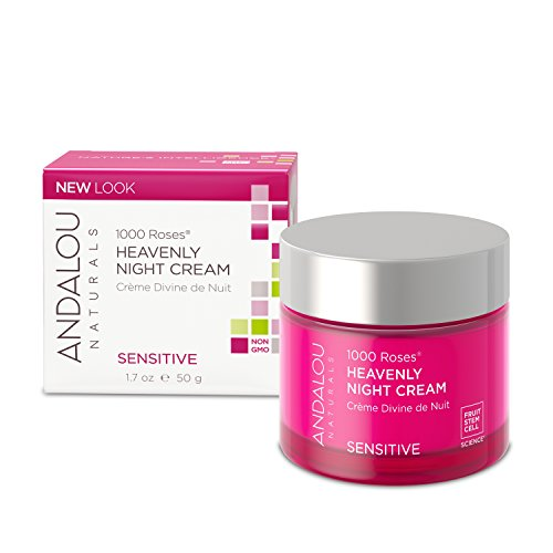 Andalou Naturals - Andalou Naturals 1000 Roses Heavenly Night Cream, 1.7 Ounce, For Sensitive, Dry, Delicate or Easily Irritated Skin, Soothes & Calms
