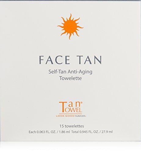Tan Towel - Tan Towel Face Tan, 15 Count