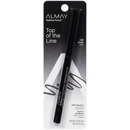 Almay - Almay Eyeliner Pencil, Black [205], 0.01 oz (Pack of 2)