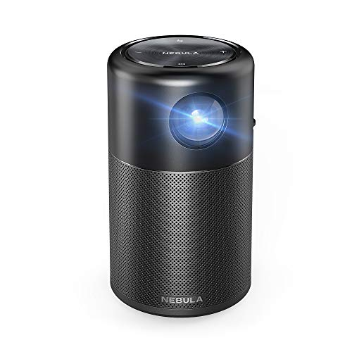 "Anker - Nebula Capsule Smart Mini Projector, by Anker, Portable 100 ANSI lm High-Contrast Pocket Cinema with Wi-Fi, DLP, 360° Speaker, 100"" Picture, Android 7.1, 4-Hour Video Playtime, and App"