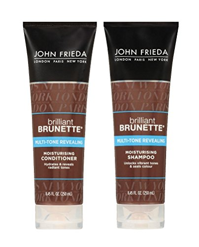 John Frieda John Frieda Brilliant Brunette Multi-tone Revealing Moisturizing DUO set Shampoo + Conditioner, 8.45 Ounce, 1 each