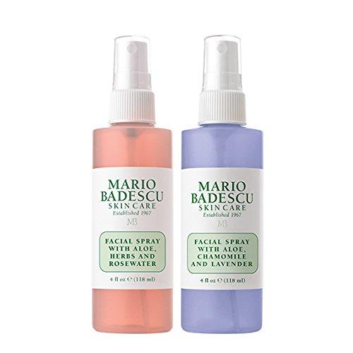 Mario Badescu - Mario Badescu Rosewater Facial Spray and Lavender Facial Spray Duo, 4 oz.
