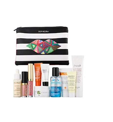 Sephora - Sephora Master Off-Beauty Skincare Makeup Bag~ 10pc Trial Sizes for Face and Lip~ Caudalie, Sunday Riley, Fresh, Bobbi Brown, Tarteist, Stila, REN, Farmacy, Philosophy~