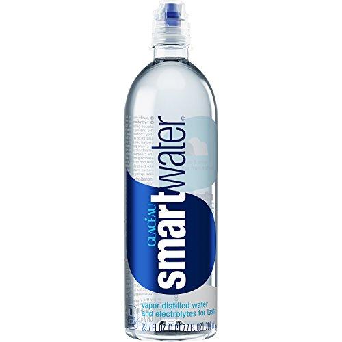 smartwater - smartwater vapor distilled premium water bottle, 23.7 fl oz