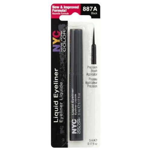 N.Y.C. - New York Color Liquid Eyeliner, Extreme Black 0.15 oz