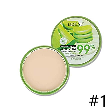 WBaby - WBaby Lideal Aloe Vera Powder Whitening Moisturizing Concealer Makeup Oil Control Invisible Pore Pressed Powder