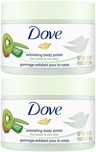 Dove - Dove Exfoliating Body Polish, Kiwi Seeds & Cool Aloe, 10.5 Ounce (Pack of 2)