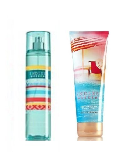 Bath & Body Works - Bath & Body Works -Signature Collection- Endless Weekend - Fine Fragrance Mist 8 Fl Oz & Triple Moisture Body Cream 8 Fl Oz