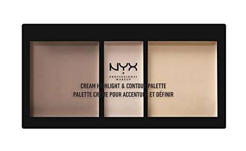 NYX - NYX PROFESSIONAL MAKEUP Cream Highlight & Contour Palette, Light, 0.38 Ounce