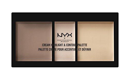 NYX - NYX PROFESSIONAL MAKEUP Cream Highlight & Contour Palette, Light, 0.38 Ounce