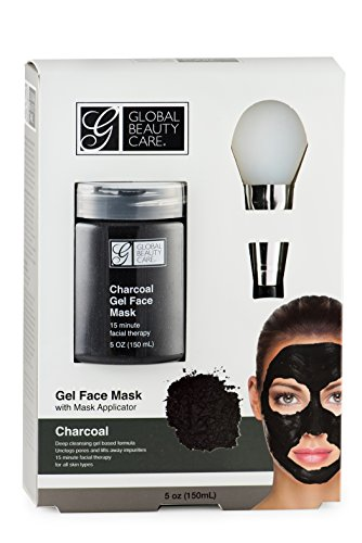 Global Beauty Care - Black: Charcoal Gel Face Mask with Applicator