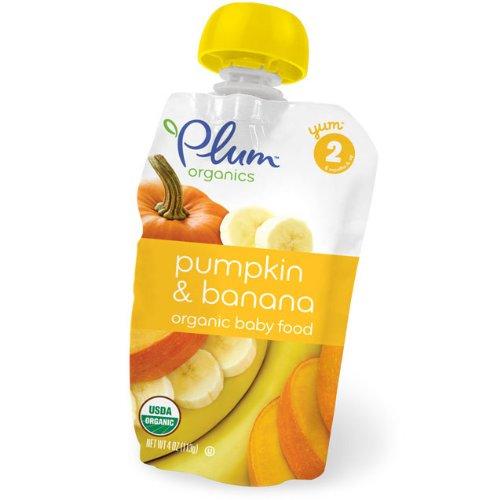 Nest Collectives Plum Organics Second Blends Pumpkin & Banana (6x4oz)