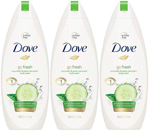 Dove - Dove Body Wash 12 Ounce Go Fresh Cucumber & Green Tea (354ml) (3 Pack)