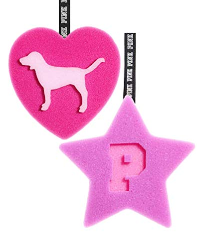 Generic - Victoria's Secret PINK Bath Bundle (2 Sponge Loofah Star & Heart)