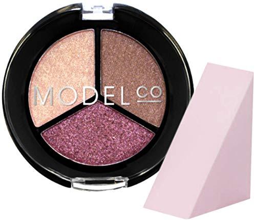 Model Co - Model Co Metallic Eyeshadow Trio Full Size, Positano (Free Cosmetic Wedge Sponge Included)