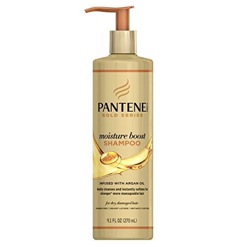 Pantene - Gold Series Argan Oil, Sulfate Free, Shine Cream, For Natural And Curly Textured Hair
