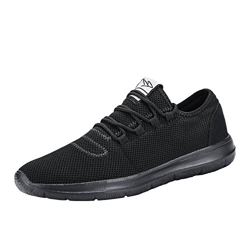 keezmz - keezmz Men's Running Shoes Fashion Breathable Sneakers Mesh Soft Sole Casual Athletic Lightweight Full Black-44